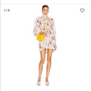 Auth Balenciaga pleated babydoll flower dress